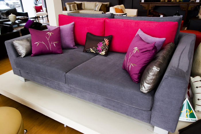 Laze designer furniture sofas ottomans Fine home furniture bedding pty ltd